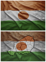 Niger flag and map collage