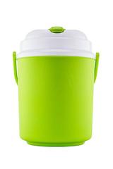 Green plastic canteen