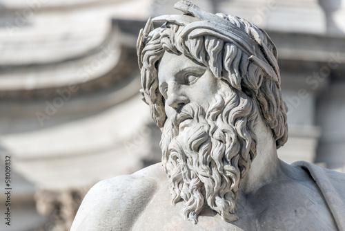 Leinwanddruck Bild Roma, Fontana dei Quattro Fiumi (part.)