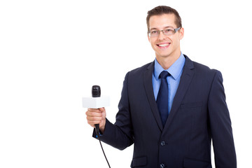 young professional journalist portrait