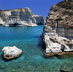 Kleftiko beach.MIlos island.Greece.