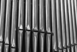 Organ Pipes Inside a Catholic Cathedral in Paris