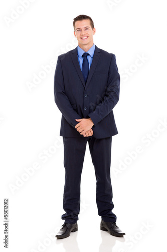 handsome businessman in suit