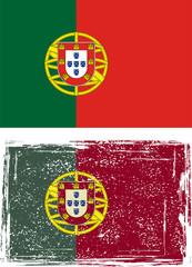 Portuguese grunge flag. Vector