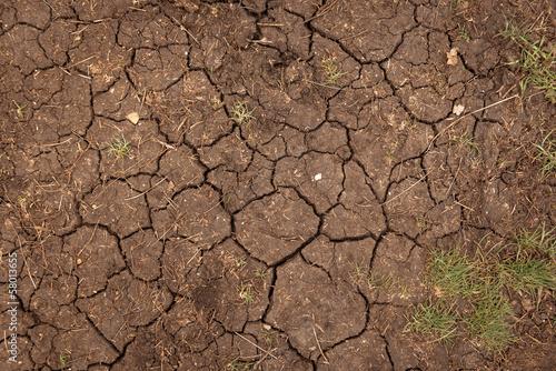 Aluminium Droogte Closeup of dry soil texture