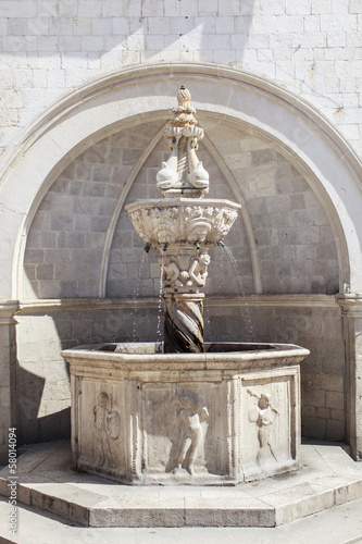 Onofrio Fountain in Dubrovnik, Croatia