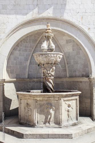 Leinwanddruck Bild Onofrio Fountain in Dubrovnik, Croatia