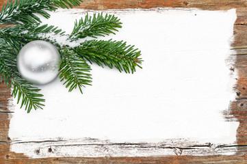 Weihnachten, Weihnachtskarte, Holz, Tanne, Maler, Lackierer