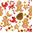 Seamless pattern of Christmas sweets