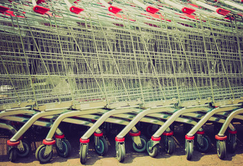 Shopping cart trolley retro looking