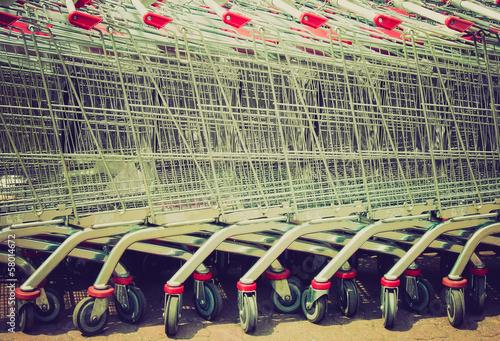 Shopping cart trolley retro looking