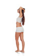Girl back in white underwear