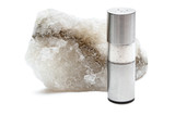 Rock salt with saltshaker