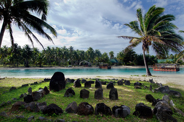 Te-Poaki-O-Rae in Aitutaki Lagoon Cook Islands