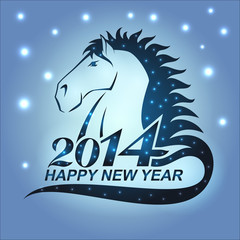 Horse with stars as a symbol of 2014