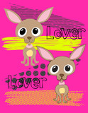 Illustration vector of little chihuahua with background.