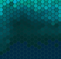 Emerald hexagonal grid