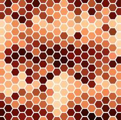 Brown Hexagonal Pattern
