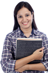 Young Indian female student with books