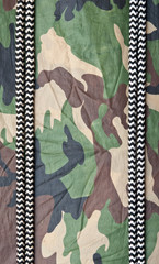 marine ropes on background of green camo