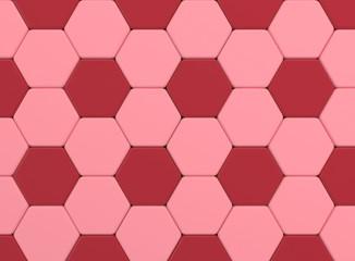 red color tone hexagonal tiles.