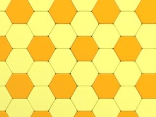 yellow color tone hexagonal tiles.