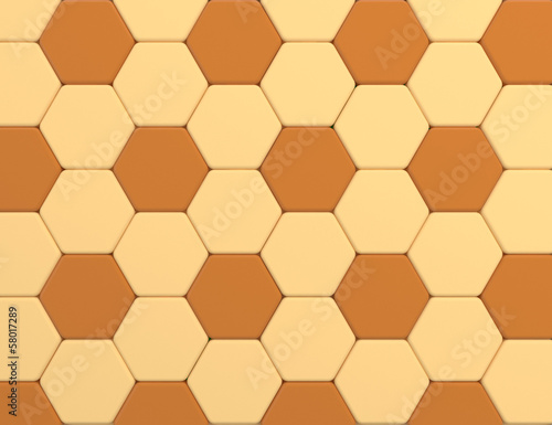 orange color tone hexagonal tiles