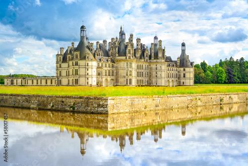 Chateau de Chambord, Unesco french castle. Loire Valley, France