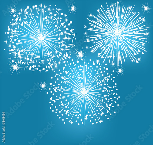 vector abstract background with fireworks