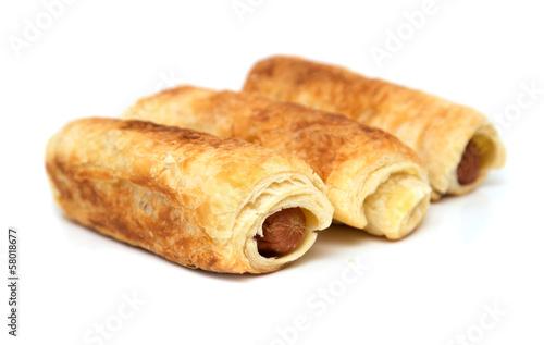 "fresh tasty meat pies on a white background"" Stockfotos und ..."