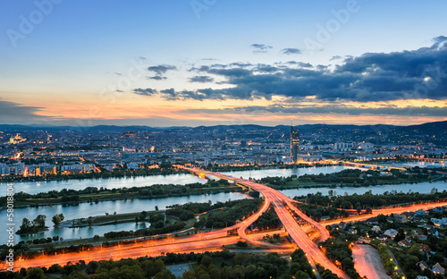 Vienna at sunset, Austria