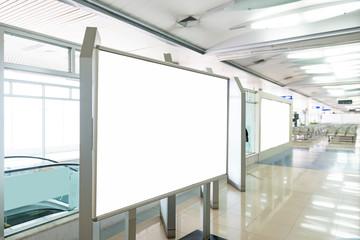 Blank Billboard in airport