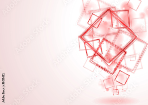 Bright red squares vector background