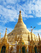 Shwedagon Pagoda in Yangon, Landmark of Myanmar