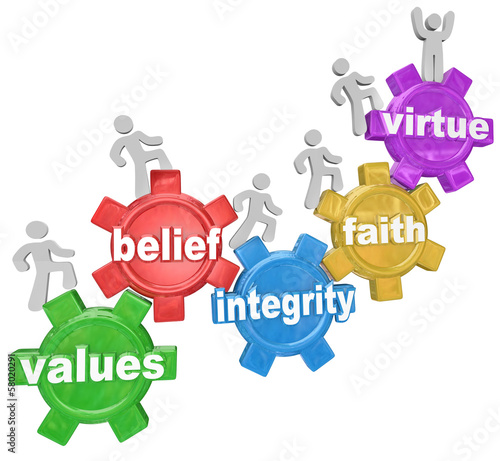 Gears Going Up Values Belief Integrity Faith Virtue