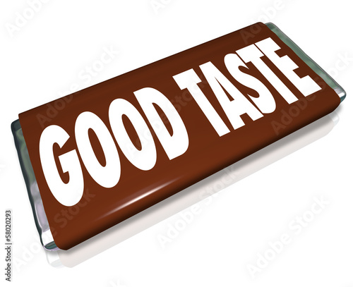 Good Taste Chocolate Candy Bar Wrapper