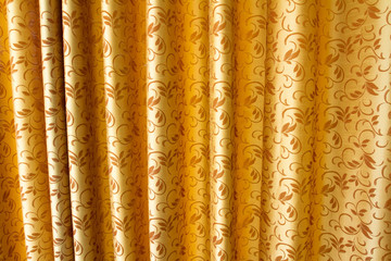 Golden stage curtain in classic style