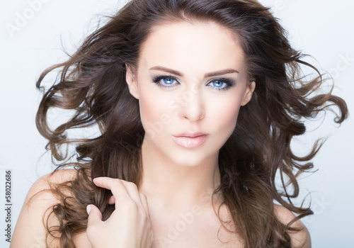 canvas print picture beauty face
