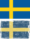 Swedish grunge flag. Vector