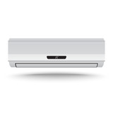 3D Realistic air conditioner vector on isolated white background