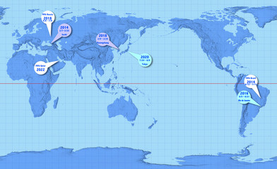 立体の世界地図