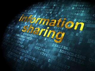 Information concept: Information Sharing on digital background