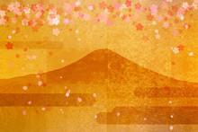 Or plein écran Fuji と Sakura