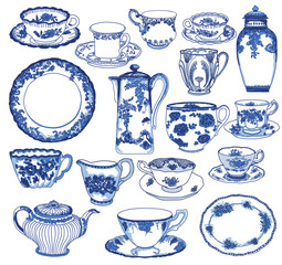 Fine China, Hand Drawn Set