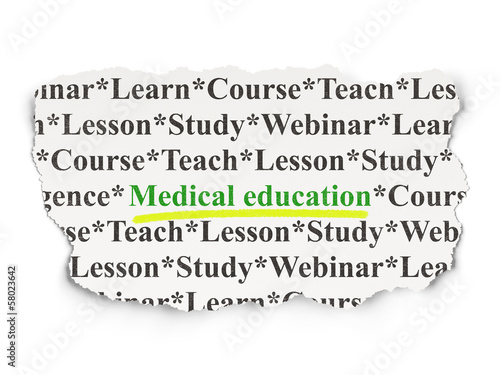 Education concept: Medical Education on Paper background