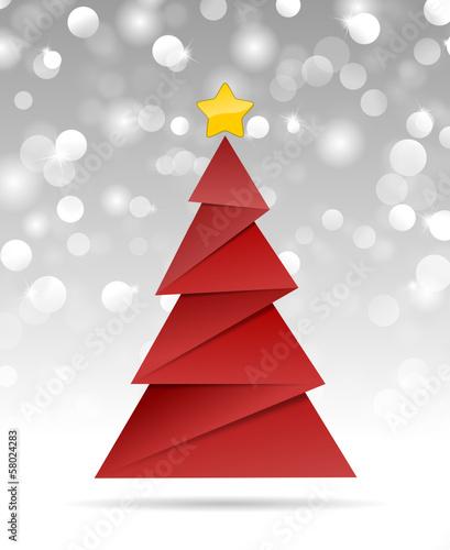 roter weihnachtsbaum und schneesterne stock image and. Black Bedroom Furniture Sets. Home Design Ideas