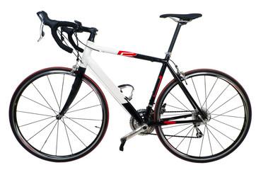 Rennrad vor weiß