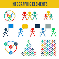 Communication icon, infographic with man, people symbol