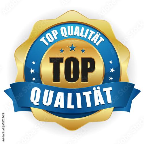 Gold blau Top Qualität siegel