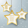 Three Golden Star Price Stickers Snow